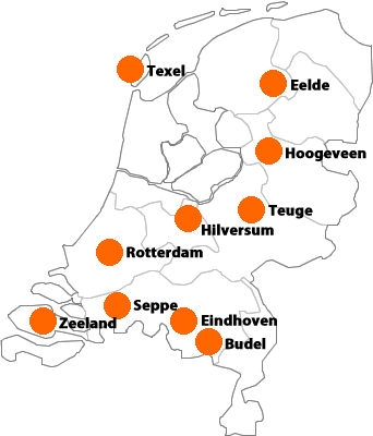 Onze opstijglocaties in Nederland